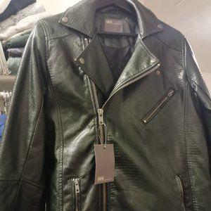 🆕ASOS Biker Jacket In Green Faux Snake Skin XS